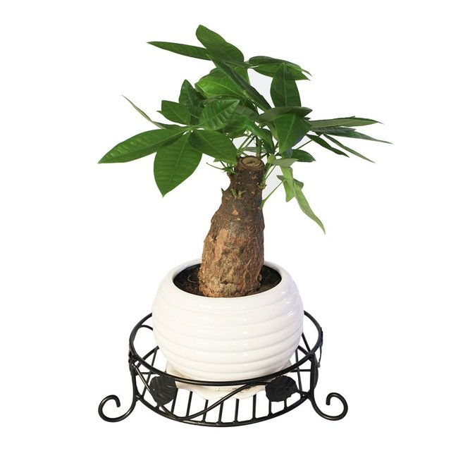 Black Flower Pot Holders Wrought Iron Plant Stands Stand