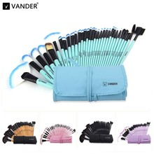 Vander Classic 32 Pcs Makeup Brushes Professional Cosmetic Kits Make Up Brush Set Foundation Powder Tool w/ Bag pincel maquiagem