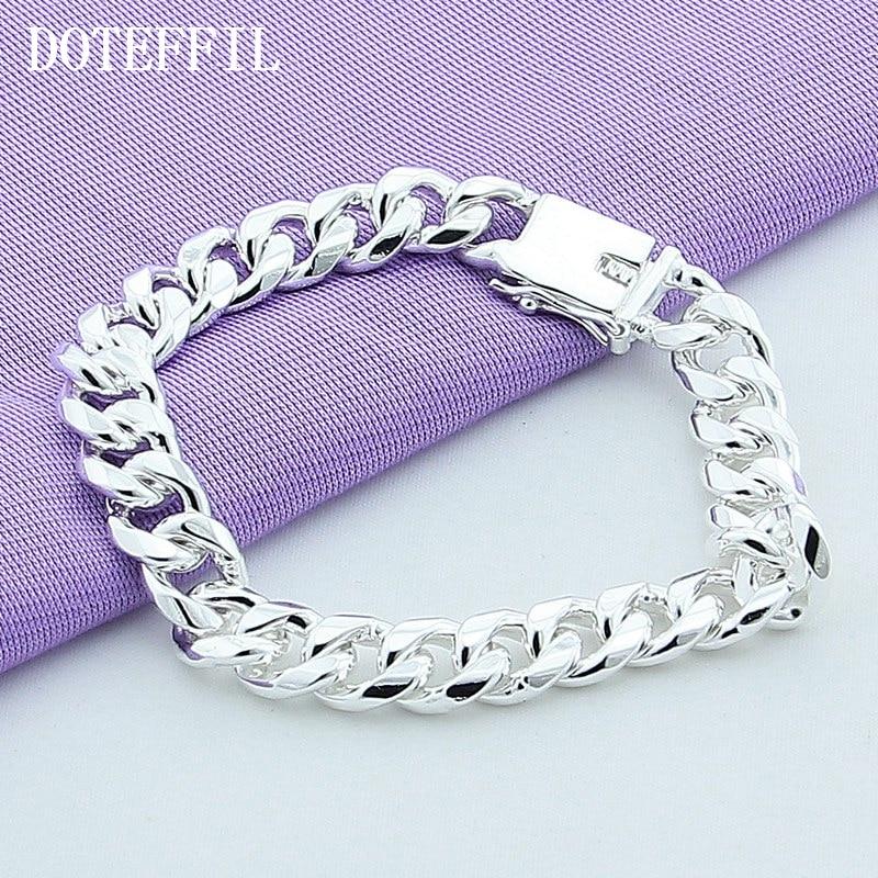 10 мм браслет 925 сріблястий колір - Модні прикраси - фото 5