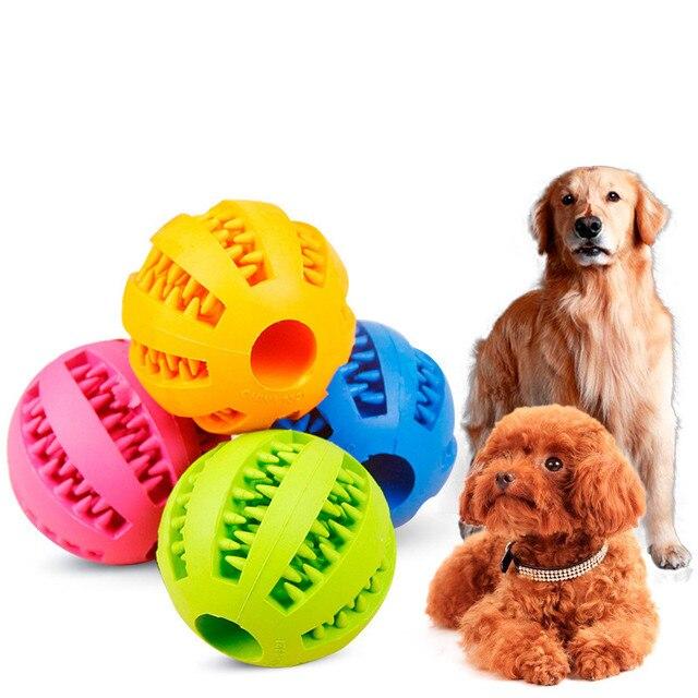 Mascotas juguetes interactivos tough juguete pelota de goma elasticidad  Ball Dog masticar juguetes Limpieza de dientes c4ef16fadc1b8