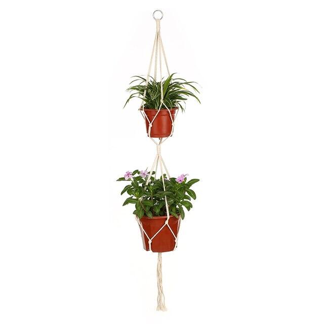39 Inch Useful Macrame Plant Hanger Holder Indoor Outdoor Flower Pot Hanging Planter Basket Cotton Rope