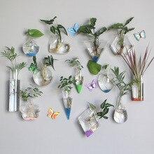 Hydroponics Wall Vase Hanging Pots Flower Planter Pots Glass Vases Home Decor Garden Supplies Terrarium Container Decoration