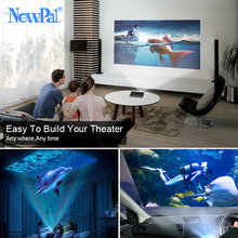 NewPal 2000Lumen 3D DLP Projector  WIFI Pico Projector 1GB RAM+8GB ROM Android4.4