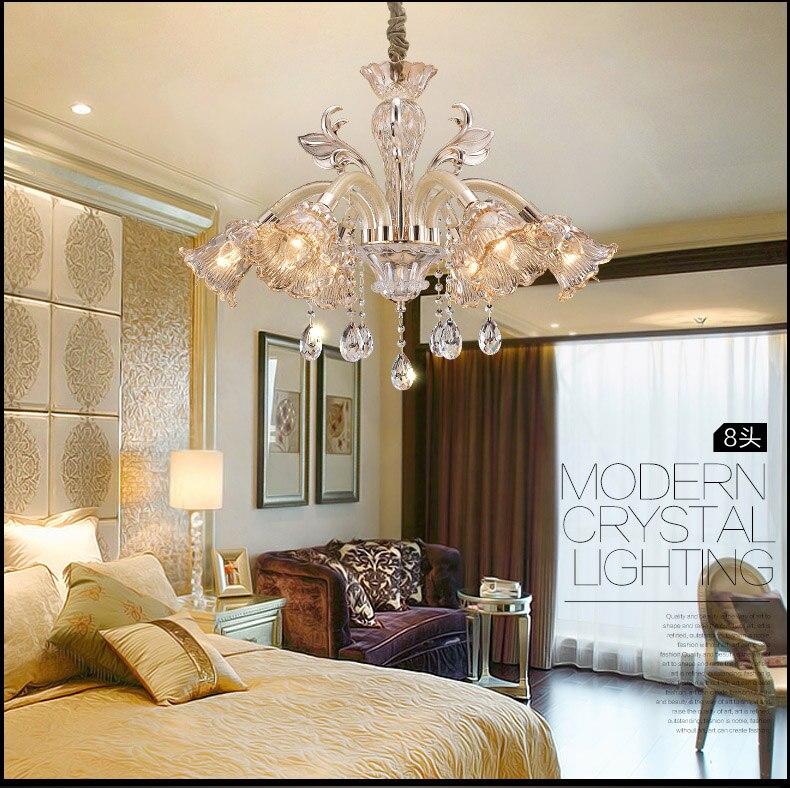 Mundgeblasenem Glas Kronleuchter Luxus Penthouse Moderne Fuhrte