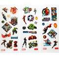60 pçs/lote Super herói homem de ferro capitão américa Hulk 3D inchado adesivos clássicos brinquedos para as crianças meninas e meninos