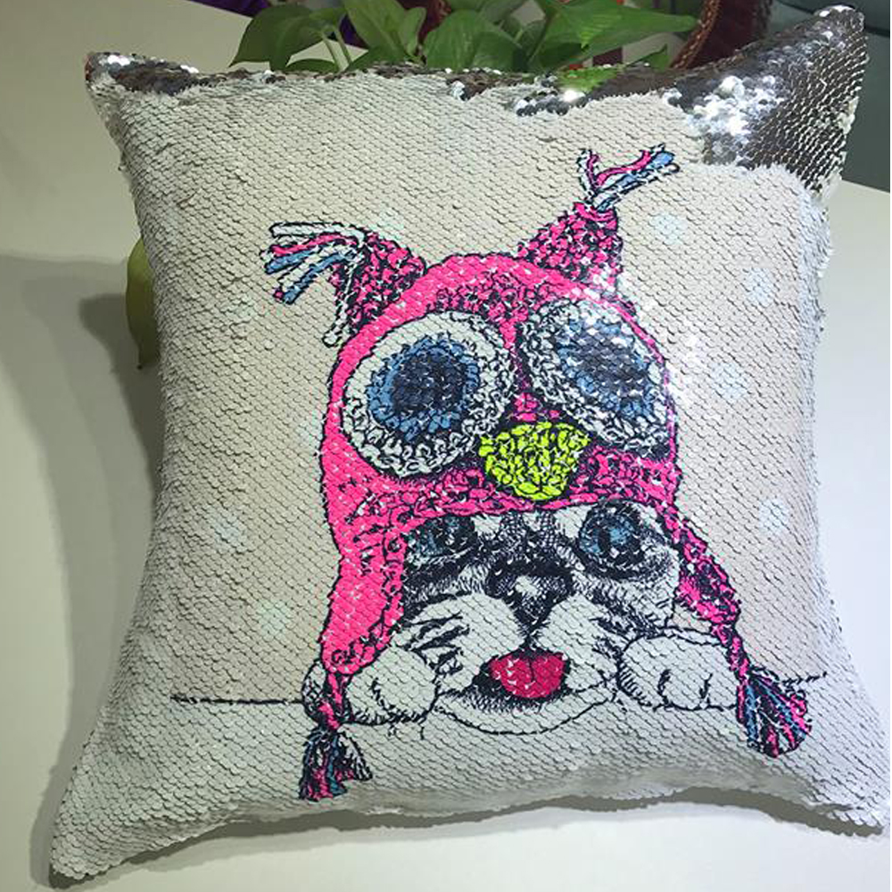 MUGS Sublimation Flip Sequin Pillow Cover Fabric Items from