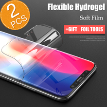 ФОТО too 2pcs soft hydrogel screen protector for iphone x 7 8 front film 3d soft full curved screen protector film for iphonex 6 7 8