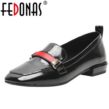 FEDONAS Fashion New Women Genuine Leather High Heels Pumps Square Toe Spring Summer Shoes Woman Ladies Sexy Party Dancing Pumps