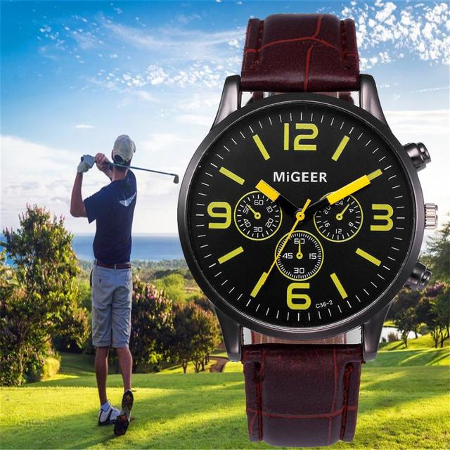 Quartz Men Watch Casual Leather Quartz Wristwatches Strap Watch Wood Male Wristwatch Dropshipping Relogio Masculino relojes 4KK