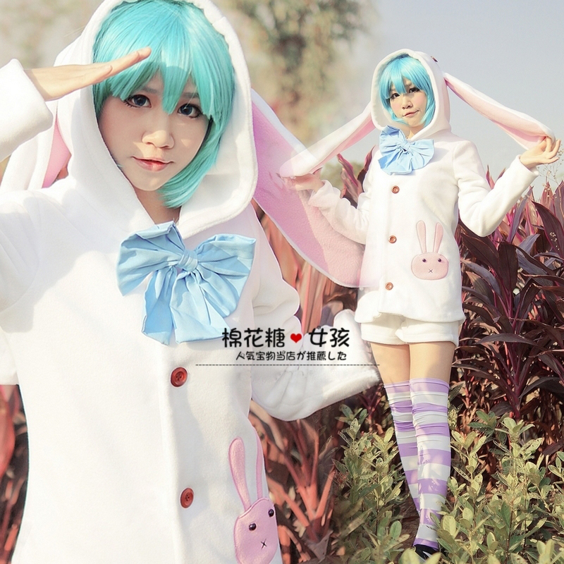 Anime Miku Hatsune Cosplay Costumes Rabbit Home pajamas Free Shipping