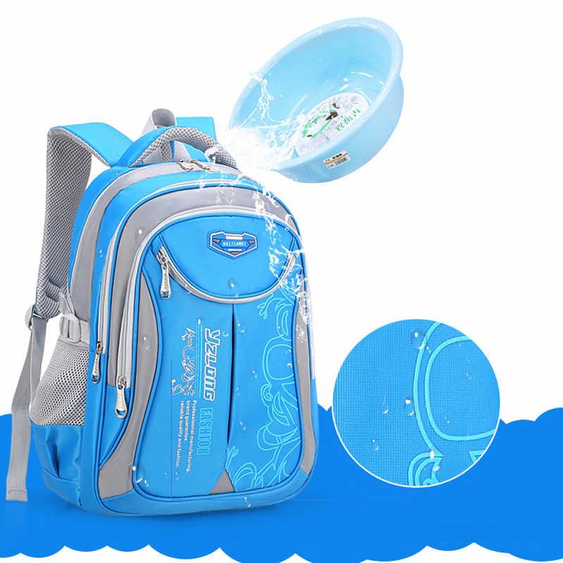 BAIJIAWEI Yeni Çocuk okul çantası İlköğretim Okulu Çocuk Sırt Çantası Yükü Azaltma Sırt Çantaları Su Geçirmez okul çantası Erkek Kız