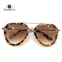 2018 Luxury Woman Sunglasses Half Metal High Quality Sunglasses Men Women Brand Mirror Lens Sunglasses