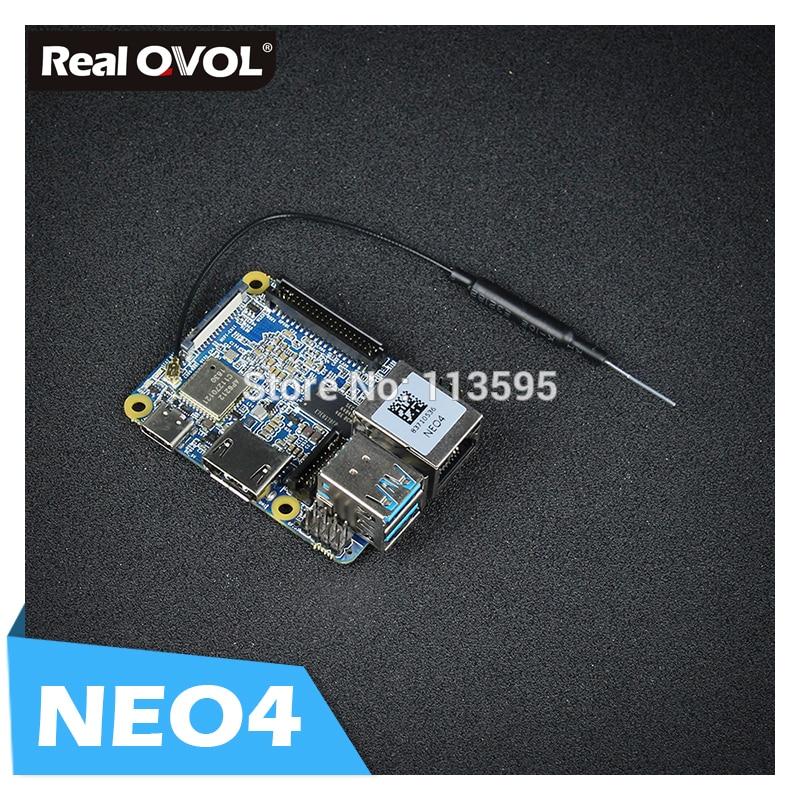 RealQvol FriendlyARM NanoPi NEO4 1GB DDR3 Rockchip RK3399 An Onboard Wi-Fi/BTmodule Supports Android Ubuntu Desktop/CORE/Lubuntu