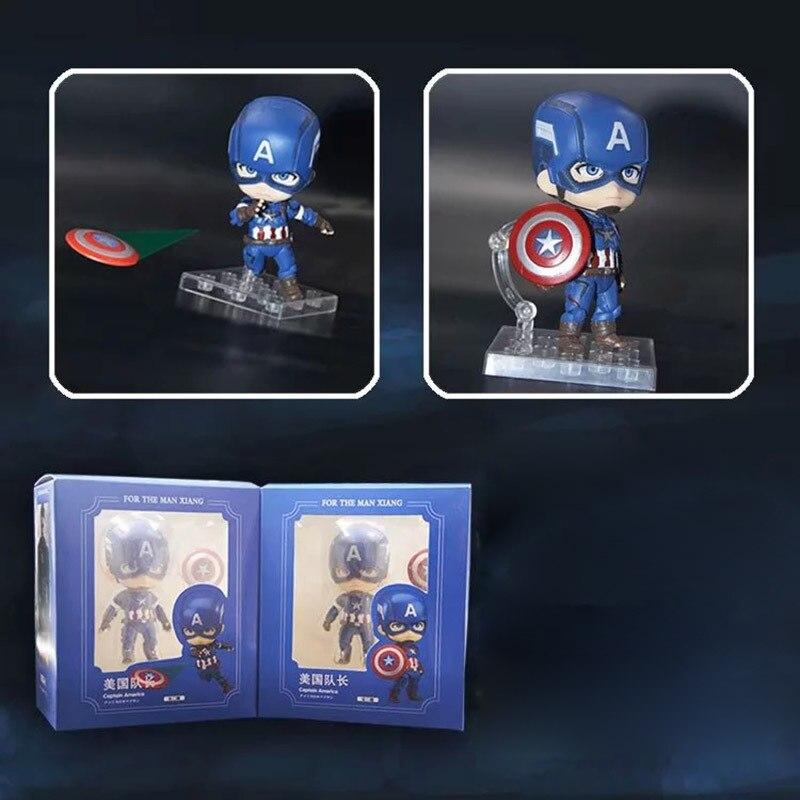 2 pçs/set Capitão América Figuras de Ação Mini figura do Herói Capitão América Edição figura