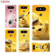 Pikachue Movie Durable Soft TPU Phone Case For LG V40 G6 G7 Q6 Q8 Q7 G5 G4 V30 V20 V10 K8 K10 2018 2017 Customized Cases Coque