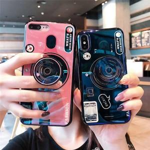 Image 1 - สำหรับ Huawei Y6 Y7 PRIME 2018 Blue Ray กล้องขาตั้งซิลิโคนสำหรับ Huawei Y5 Y6 Y7 2017 y9 2018 Y6 Pro 2019 Coque