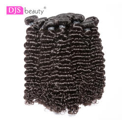 8A ди-джеев красоты 10bundles/лот глубокая волна человеческих натуральная пучки волос естественный цвет бесплатная доставка