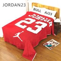 De haute qualité Doux Velours Loi Levin Tissu Couverture NBA Jordanie Nombre 23 Feutres Tapisserie Jeter Corail Polaire Tapis Tapis Tapis