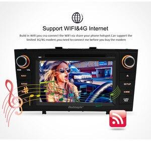 "Image 4 - 7 ""Android 10.0 Car Stereo Radio Per Toyota T27 Avensis 2009 2014 2 Din DVD di Navigazione di GPS Wifi FM DAB + Headunit Bluetooth 4G di RAM"