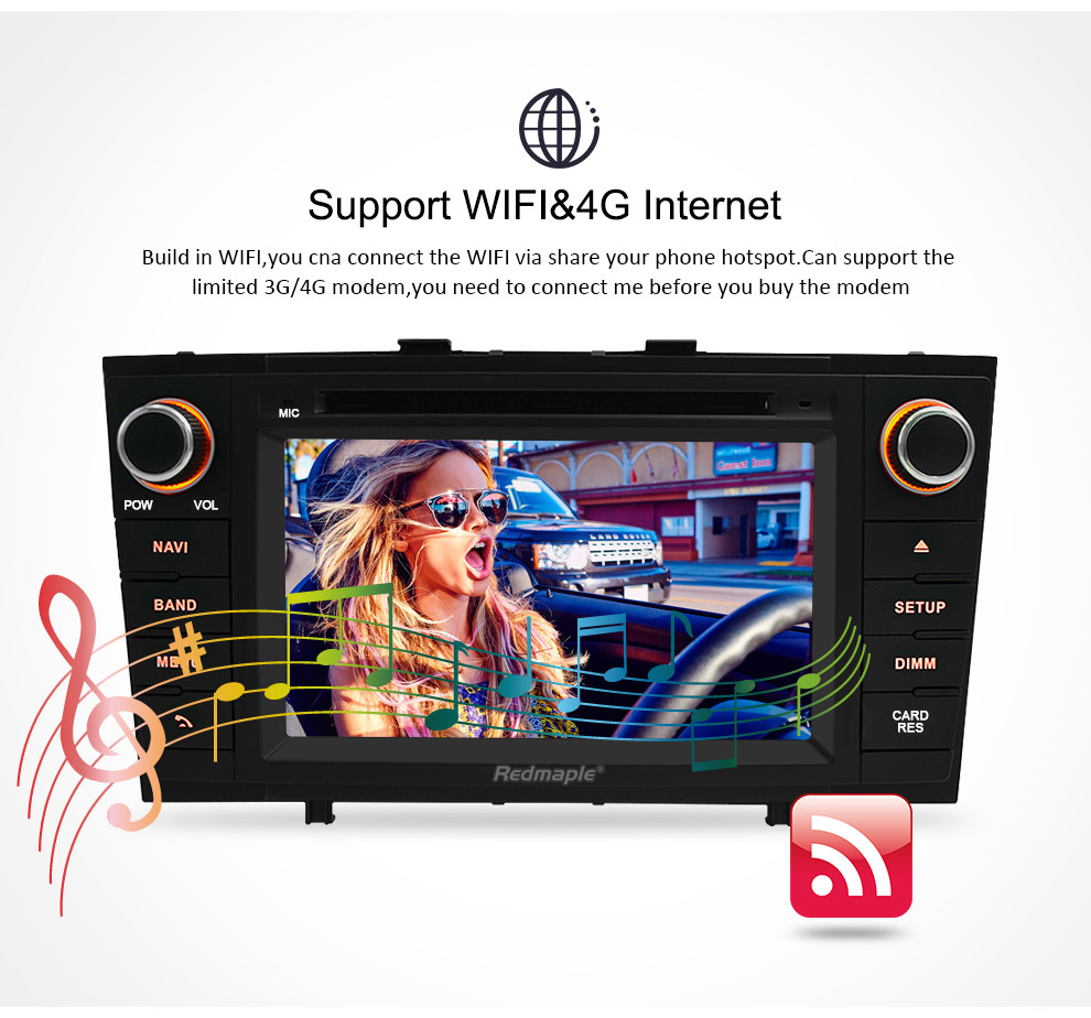 "Image 4 - 7"" Android 9.0 Car Stereo Radio For Toyota T27 Avensis 2009 2014 2 Din DVD GPS Navigation Wifi FM DAB+Headunit Bluetooth 4G RAM-in Car Multimedia Player from Automobiles & Motorcycles"