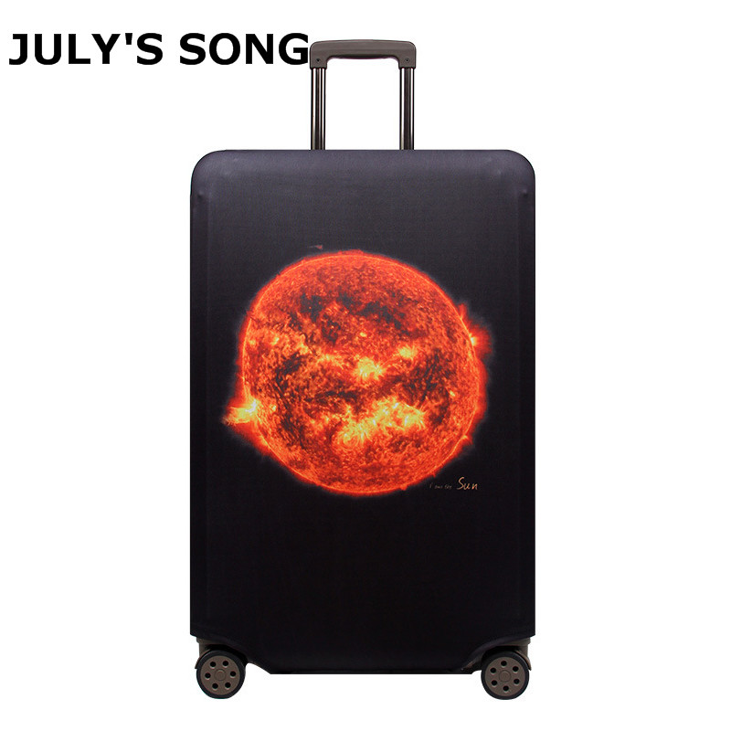 JULY'S SONG Elastic Fabric Luggage Protective Cover Suitable 18-32 Inch Trolley Case Suitcase Dust Cover Travel Accessories travel accessories fashion striped suitcase protection cover 18 32 inch trolley dust cover suitcase protective cover