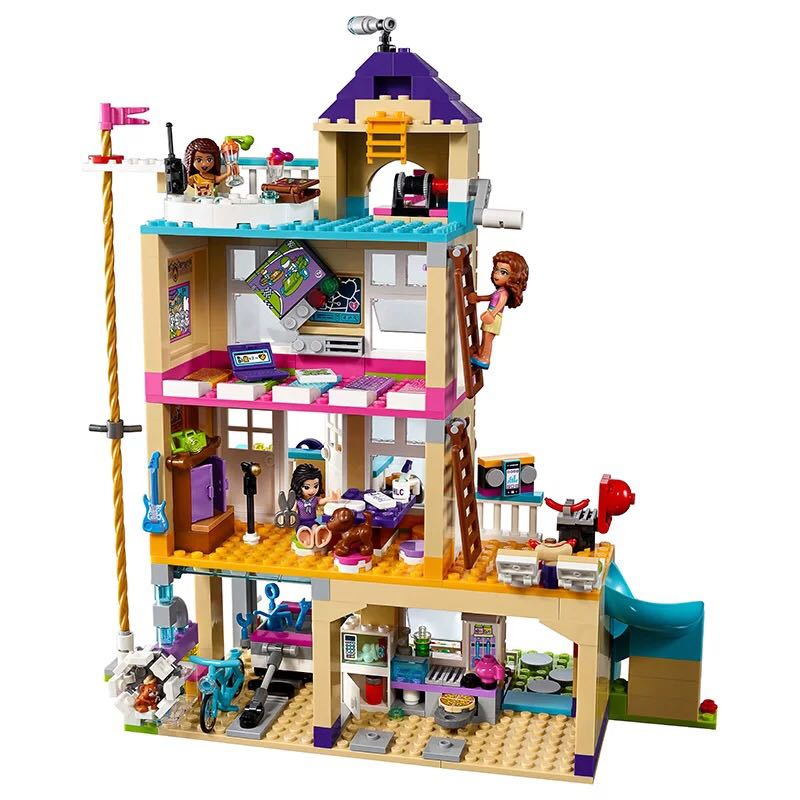 Lepin 01063 Girls Series 808Pcs The Friendship House Set Building Blocks Bricks toys Compatible Friends 41340