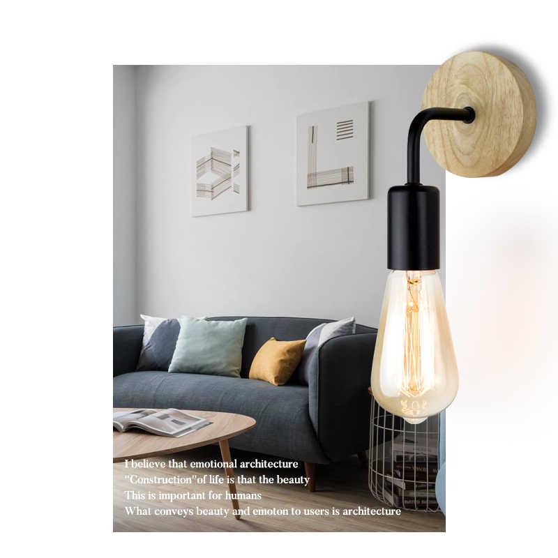 Промышленный Лофт настенный светильник дерево Винтаж Ретро Декор Настенные светильники для гостиной домашние Бра Освещение декоративные