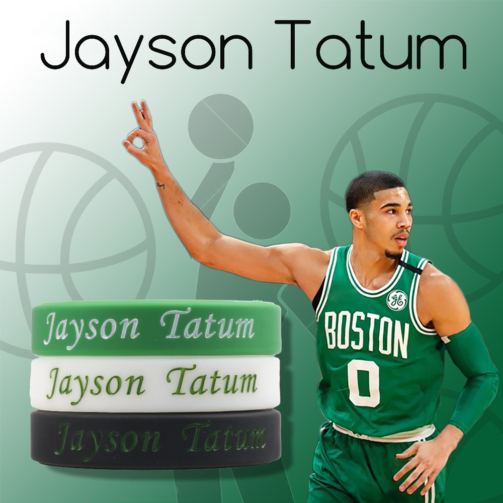 new product 731da 8521f US $1.53 15% OFF Jayson Tatum Silicone bracelet Boston Celtic Team Softy  Bracelet Basketball player Number 0 Wristband For Adult Kids Sizes Gift-in  ...