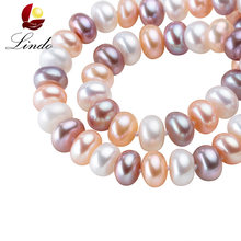 43/45/50/60/80cm Long Necklace For Women Classic 8-9MM Big Size Natural Pearl Choker Necklace multi color pearl necklace(China)