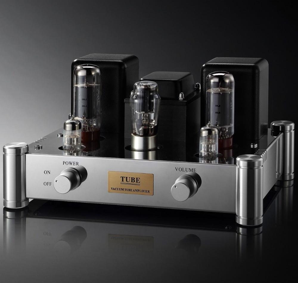 все цены на Single End EL34 Vacuum Tube Amplifier Hifi Audio Stereo Vintage Integrated Power AMP Hand Chassis Mount 12W PSVANE EL34B 6N2 5Z4 онлайн