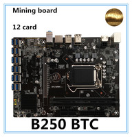 NEW B250 BTC Mainboard LGA1151 CPU DDR4 Memory 12 Card USB3.0 Expansion Adapter Desktop Computer Motherboard free shipping