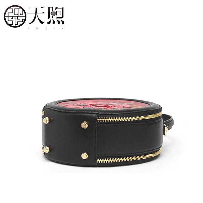 Pmsix nuova piccola borsa femminile 2019 nuovo sacchetto Del Messaggero di modo rotondo della borsa retrò piccola borsa rotonda borsa a tracolla - 6