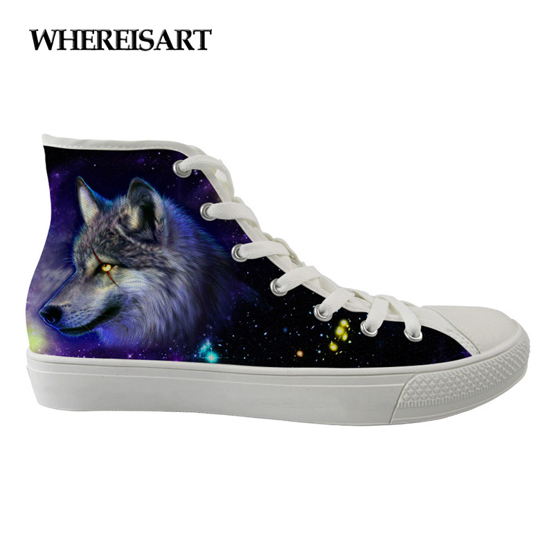 WHEREISART New Women Casual Canvas Shoes High Top Shoes Independent Design Cartoon Animals Style Female Breathable Custom ShoesWHEREISART New Women Casual Canvas Shoes High Top Shoes Independent Design Cartoon Animals Style Female Breathable Custom Shoes