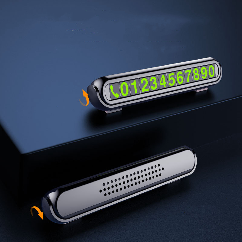 Auto di Parcheggio temporaneo con Aromaterapia Numero di Telefono Carta di Luce di Notte Car Styling Numero di Telefono Card Nascosta Numero di Targa