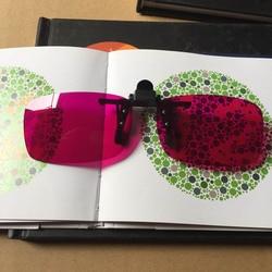 Men Women Color Blind Clip on Eyeglasses Red Green Blindness Weakness Glasses Correction Colorblind Driver Eyewear