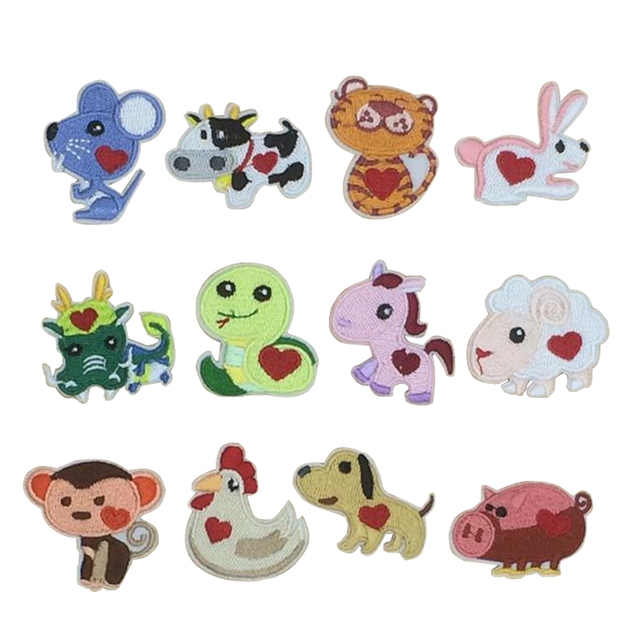 New arrival 10 pcs Chinese Lunar Calendar Year Animals ...