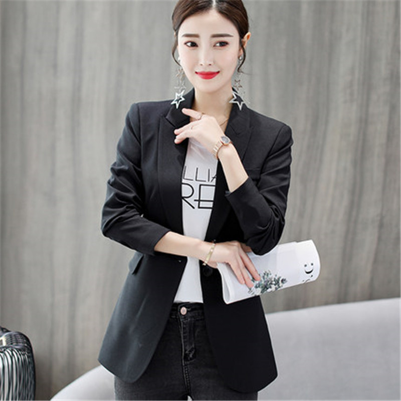 Formal Office Lady Blazers Women Black Blue Slim Long Sleeve Suit Casual Autumn Winter Coats Fashion Work Suits Woman Tops Pz618 Back To Search Resultswomen's Clothing Blazers