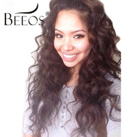 BEEOS 250% Malaysian Human Lace Front Wigs Pre Plucked Hairline Human Hair Curly Wigs With Baby Hair Bleachced Knots Remy Hair