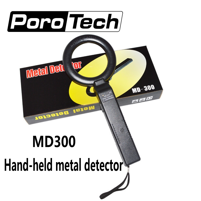 MD300 High Sensitive Portable Round Handheld Metal Detector Body Scanner With Sound Alarm And Vibration Security Instruments