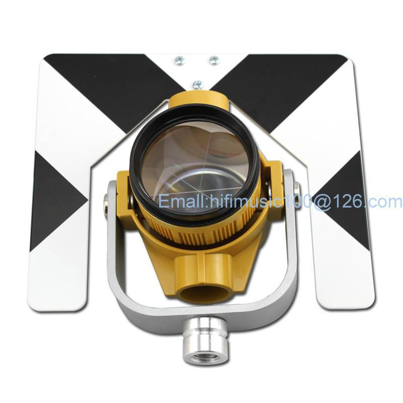 Yellow Color Prism Target Black and White Color w Bag for Total Station ...