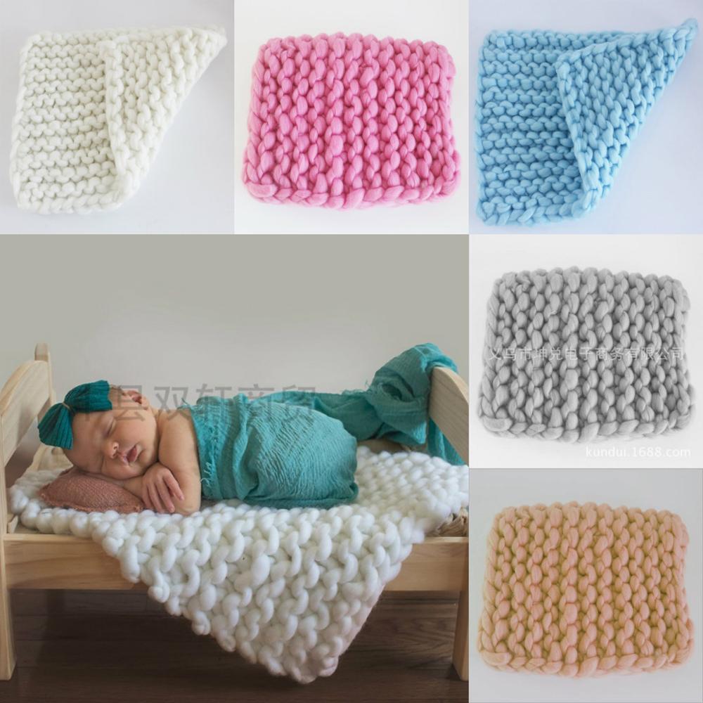 45 * 45cm Newborn Photography Props Baby Photo Blanket Cart Filling Braid Basket Stifling Photography Background