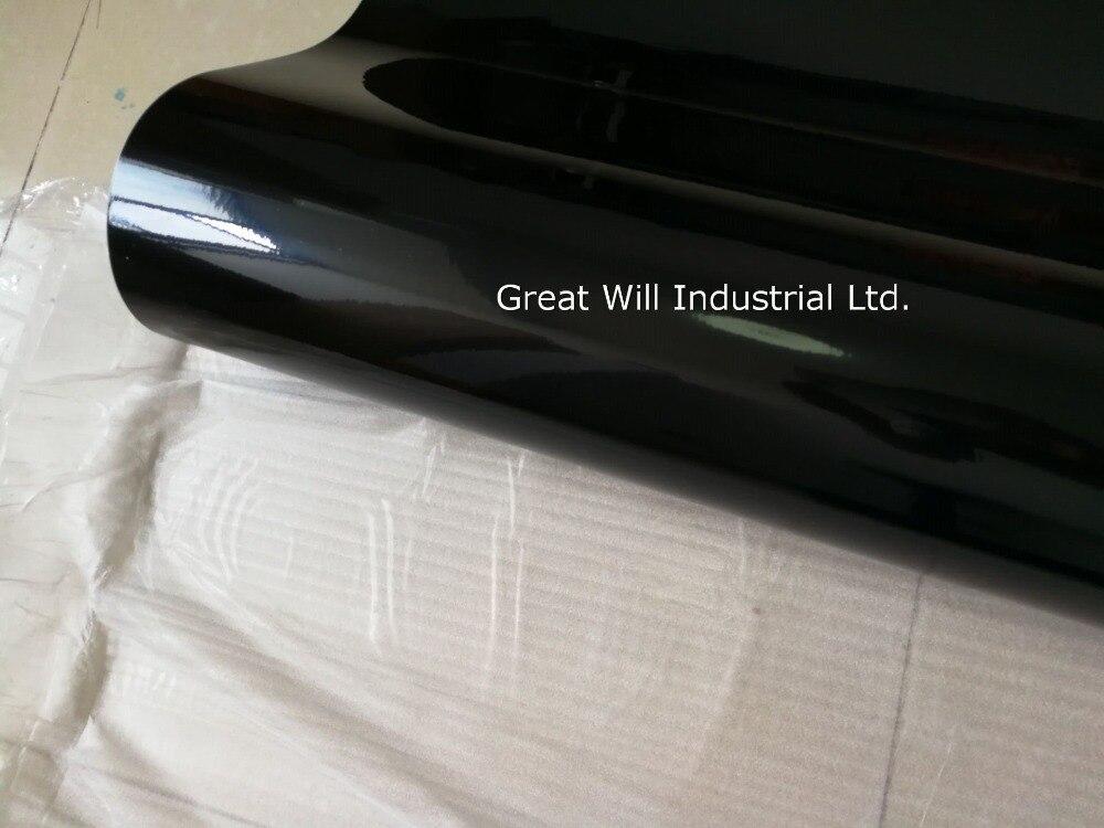 Глянцевая черная виниловая пленка для обертывания с воздушными пузырьками блестящая черная глянцевая пленка для автомобиля Размер 1,52x30 м/рулон