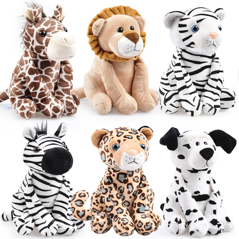 Candice guo plush toy stuffed doll cartoon animal Giraffe leopard tiger spotted dog lion zebra baby birthday gift present 1pc candice guo plush toy stuffed doll cartoon big head dog puppy funny pillow cushion kid children creative birthday gift present