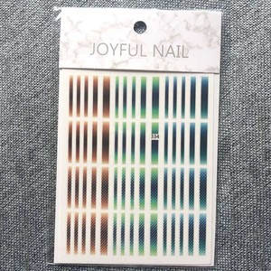 Image 4 - 1 Pcs 3D Nail Stickers Gradient Gestreepte Lijnen Tape Multi Size Zelfklevende Nail Decoratie Sticker Diy Manicure nail Decals 2019