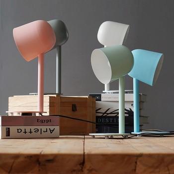 Decoraction nordic kepribadian Mode Modern E27 110 V/220 V Lampu Meja Untuk Kamar Tidur/Ruang Tamu Pencahayaan