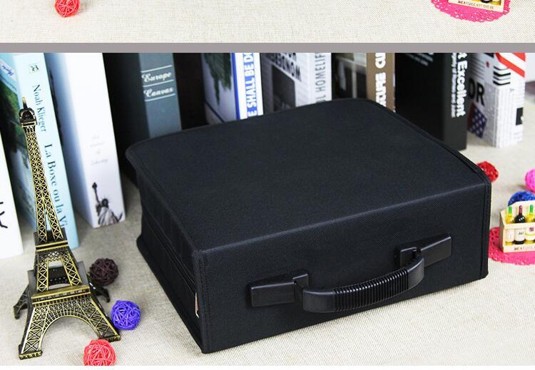 Oxford Cloth 400 Discs CD DVD Storage Bag Case Wallet Album Media Storage Black Storage Holder Discs Protection Organizer