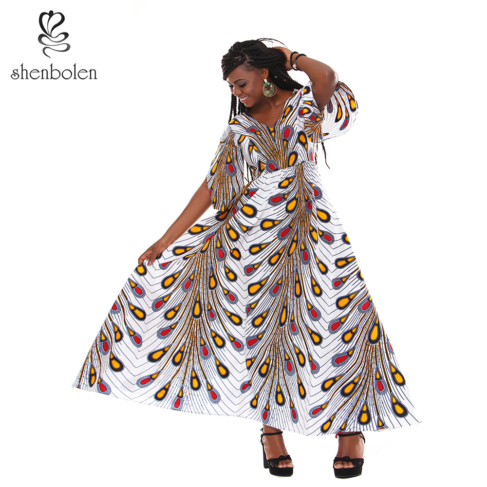 African Print Fashion: African Dresses For Women Ankara Cotton Wax Print Dress