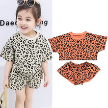 Toddler Girls Summer Clothes Leopard Print Top+shorts Suits Kids Boutique Outfits Childrens Clothing 1 3 7 Years
