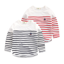 Children s clothes fall 2016 han edition baby boys long sleeve stripe T shirt coat t