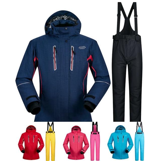 Snowboarding Suits Women Winter Windproof Waterproof Female Ski Jacket And  Snow Pants Sets Super Warm Brands Women Ski Suit 9b970c4e6